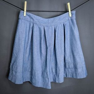 Hinge Skirt Size Medium Blue Womens Pleated Flare